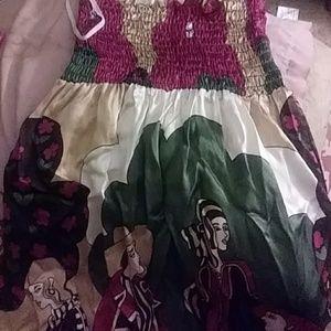 NWOT silk abstract tube dress voom by Joy Han